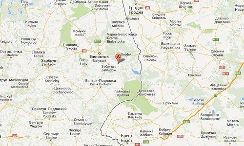 планируемое местонахождение аэропорта около Белостока