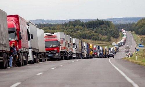 Блокада грузоперевозчиков из Литвы на границе с Россией