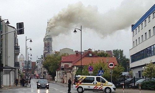 Пожар в костеле Белостока