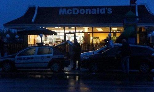 Эвакуация в Макдональдс Белосток из-за угрозы взрыва