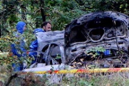 Сожженный в лесу автомобиль с трупом девушки в Литве