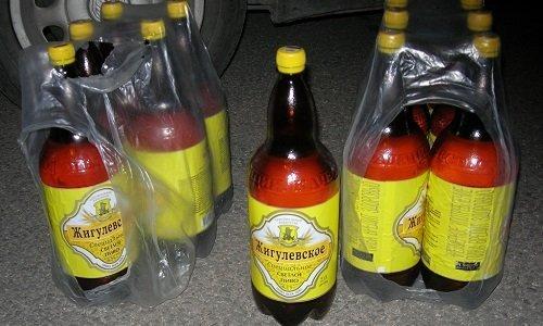 Контрабанда топлива в бутылках из под пива