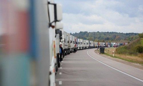 Очередь на границе с Беларусью из Литвы