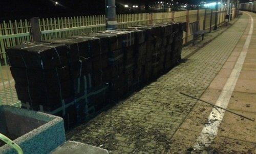 Изъятые коробки с сигаретыми в Тересполе