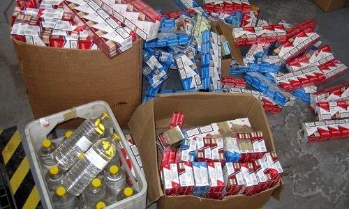 7200 пачек сигарет и 1000 литров бензина