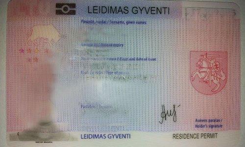 вид на жительство Литва