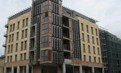Строящийся дом в Белостоке