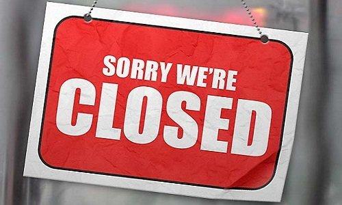 Извините мы закрыты