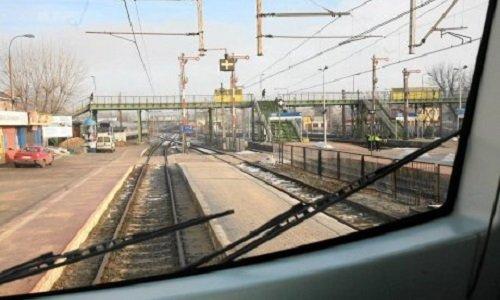 Вид на пути жд вокзала в Белостоке