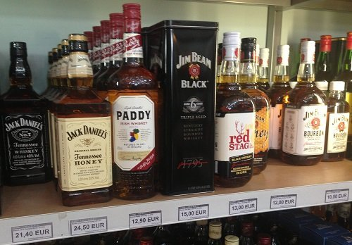 Цены на алкоголь в дюти фри