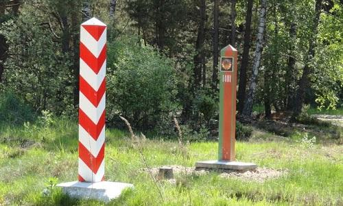 пограничный столбы Польши Беларуси