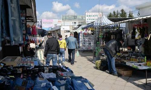 Рынок на улице Кавалерийской в Белостоке
