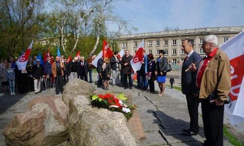 Митинг в честь 1 мая в Польше
