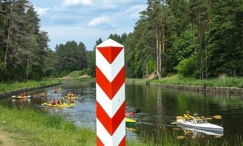 Августовский канал на границе с Польшей