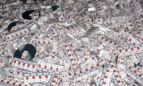 Много пачек сигарет