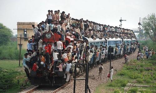 Переполненный поезд