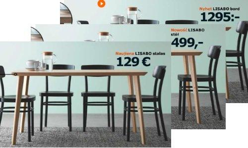 Сравнение Ikea Польша, Литва, Швеция