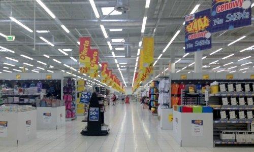 Гипермаркет Real Белосток внутри