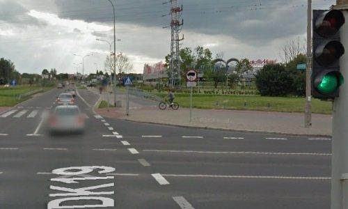 Перекресток возле Галереи Бялая в Белостоке