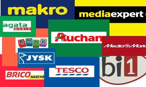 Лого разных торговых сетей