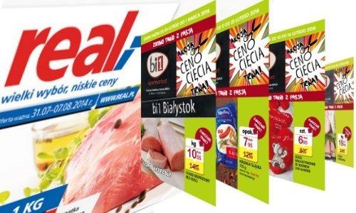 Рекламные газетки гипермаркета Real и Bi1
