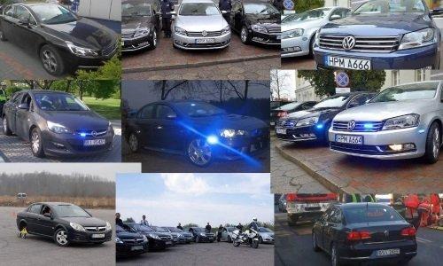 Необозначенные машины полиции Белостока