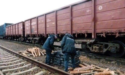 Сигареты под бревнами в грузовом поезде в Тересполе