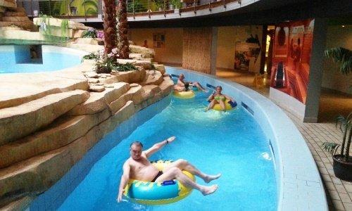 Внутри аквапарка в Друскининкае