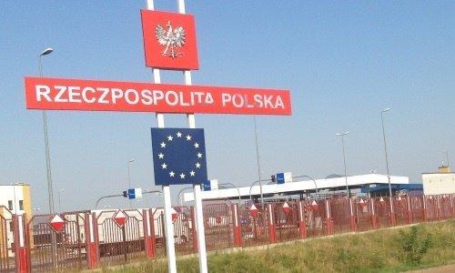 Польша знак на границе