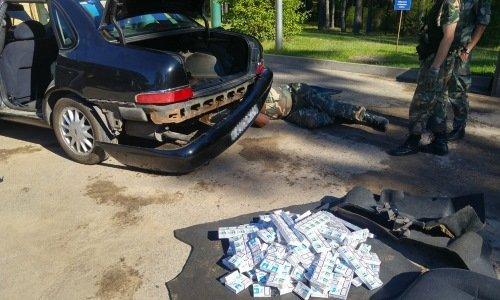 машина белоруса на проверке возле Друскининкая