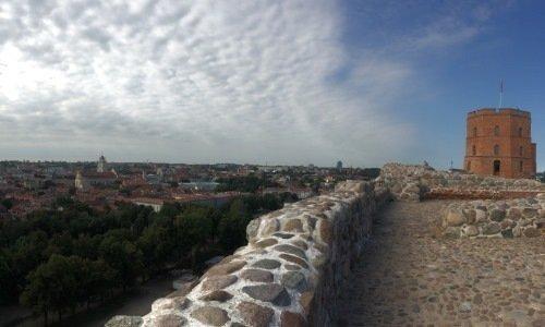 Вид на старый Вильнюс с Замковой горы