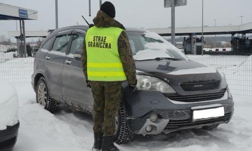 Хонда изъятая в Кузнице