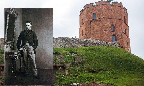 В Вильнюсе нашли Кастуся Калиновского на замковой горе Гедымина