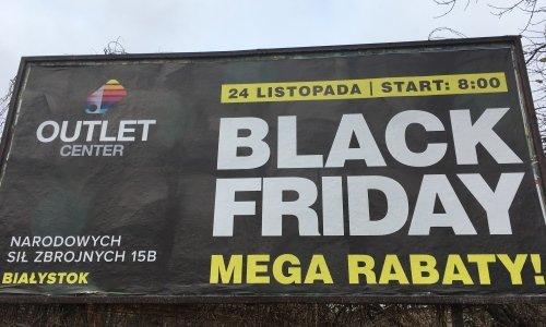 реклама черной пятницы в белостоке