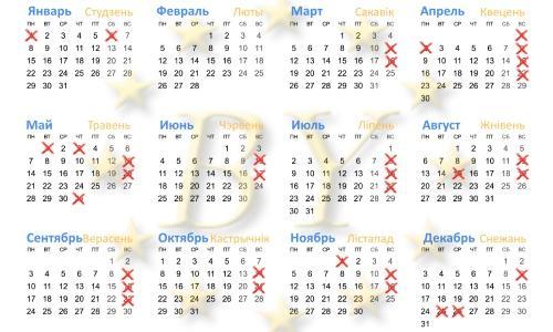 Календарь нерабочих дней Польши 2018