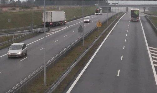 Фура белоруса на встречной полосе автострады