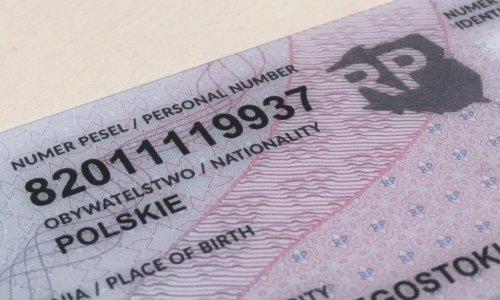 номер pesel на идентификационной карте в польше