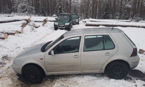 Машина застряла в лесу