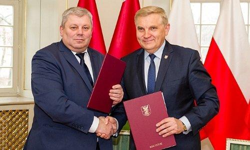 председатель горисполкома Гродно Мечислав Гой и президент Белостока Тадеуш Трусколаски