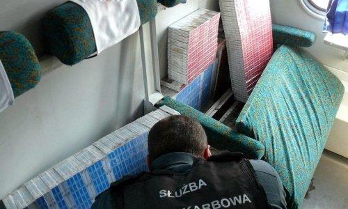 В поезде Гродно Краков под сиденьми нашли сигареты