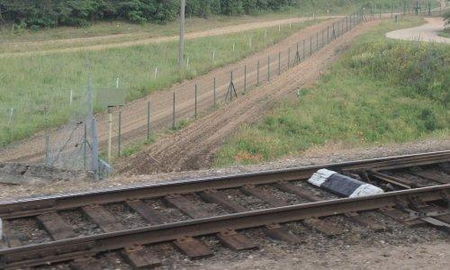 Железная дорога на границе Беларуси и Польши