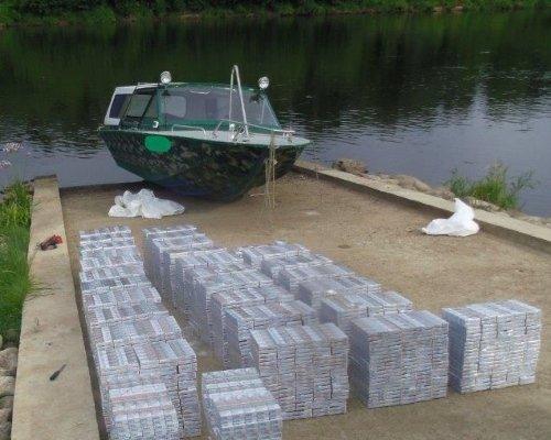 катер с контрабандой задержанный на реке Неман