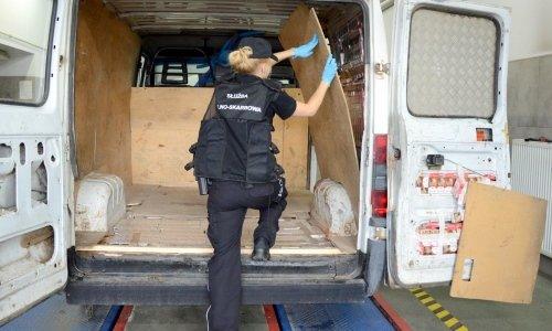 в грузовом микроавтобусе нашли контрабанду сигарет