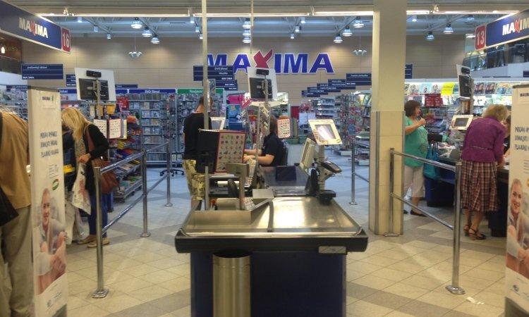 Maxima внутри магазина
