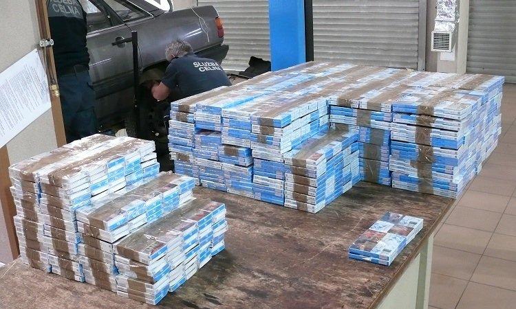 Сигареты найдены в Ауди белоруса в Тересполе