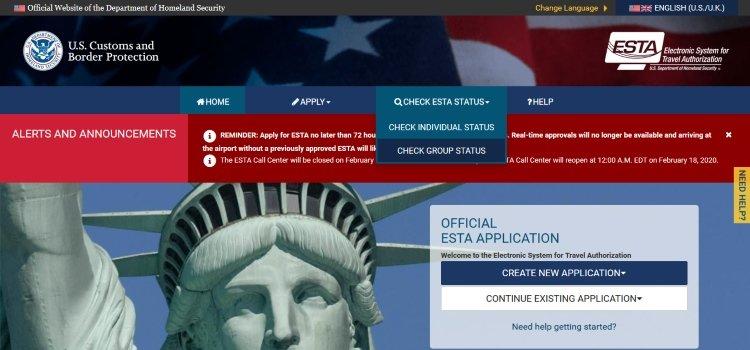 Сайт без виз США