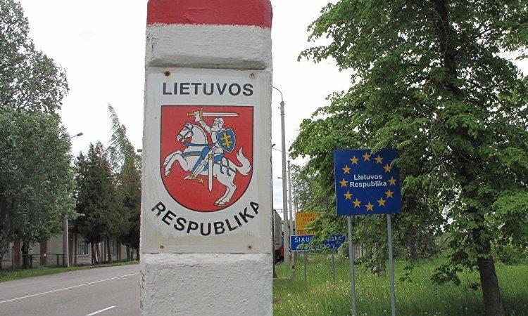 Литва граница знак на дороге