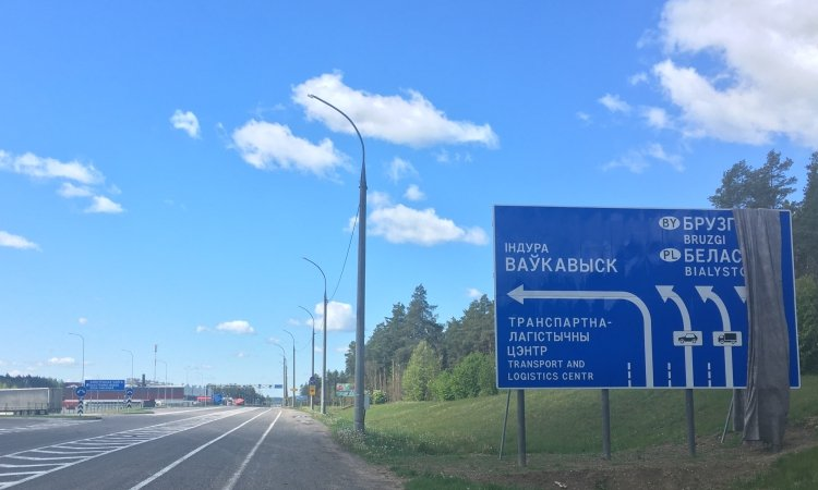 Схема движения перед границей в Брузгах