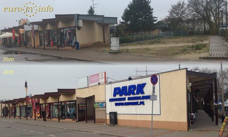 Магазины на вокзале Белостока до строительства и после