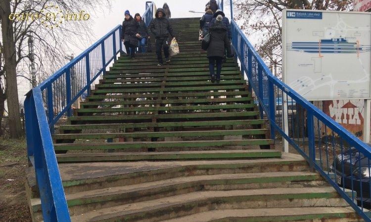Лестница на вокзале Белостока